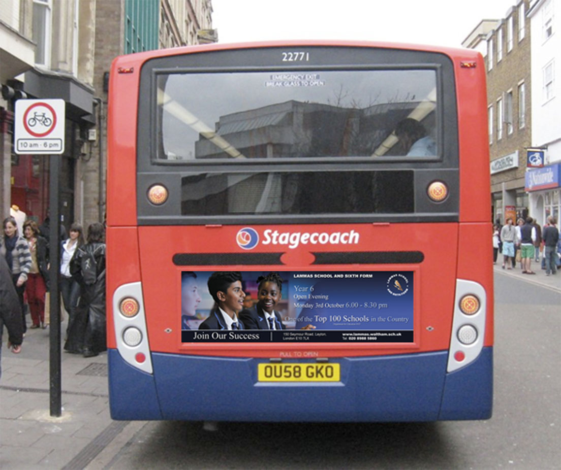 BUS ADVERT WITH BUS