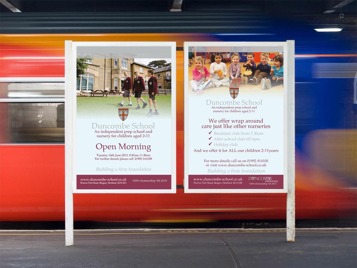 duncombe train advert